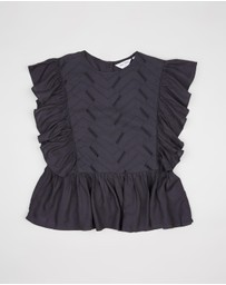 Outfit Kids - Broderie Frill Top - Teens