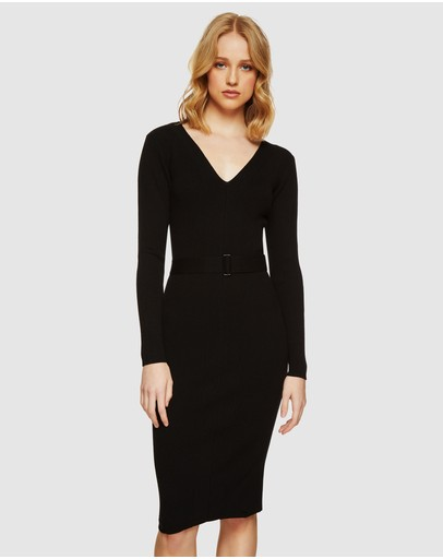 Oxford - Anna Ribbed Knitted Dress