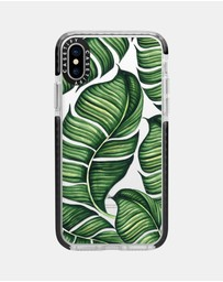 Casetify - Banana Leaves Impact Protective Case for iPhone XS/ iPhone X – Black