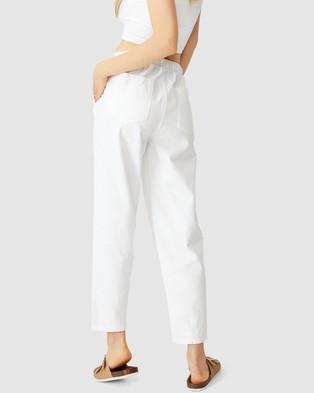 Cotton On Everyday Pants - Pants (Chalk White)
