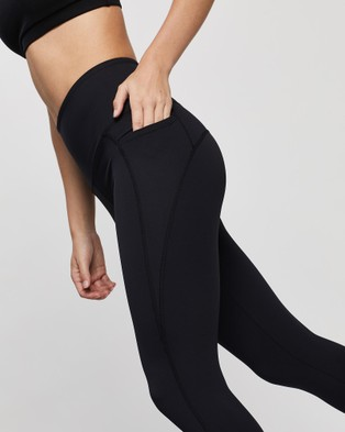 AVE Activewoman Side Pocket Full Length Leggings - all compression (Black)
