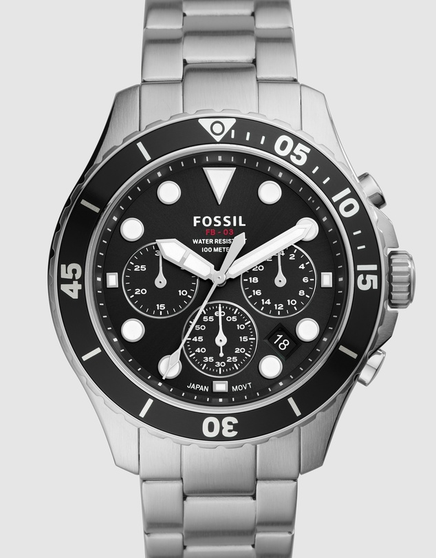 Fossil - FB-03 Silver-Tone Chronograph Watch