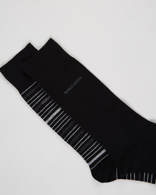 BOSS Stripe Socks 2 Pack - Underwear & Socks (Black)