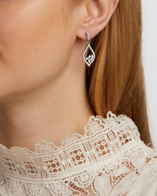 Michael Hill Floating Earrings with Cubic Zirconia - Jewellery (Sterling Silver)