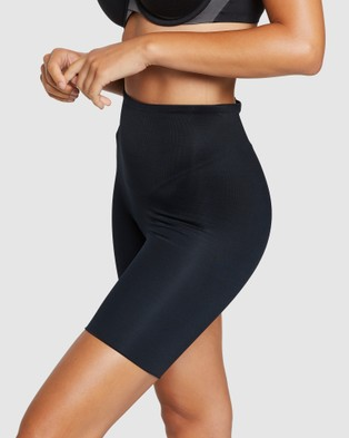Spanx Power Conceal Her High Waisted Mid Thigh Short - Underwear & Socks (BLACK)