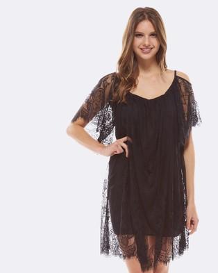 Deshabille – Positano Kaftan Black – Dresses (Black)