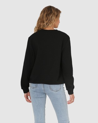 Madison The Label Madison Embossed Sweater - Sweats (Black)