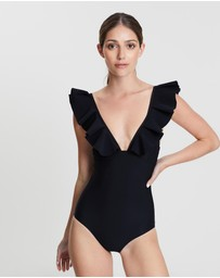 Bondi Born - Gabriella Pleated Ruffle One Piece
