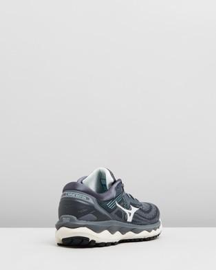 Mizuno Wave Sky 4   Women's - Performance Shoes (Castlerock & Beach Glass)
