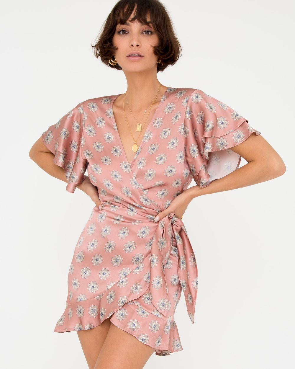 Carver Pink Sylvie Wrap Dress