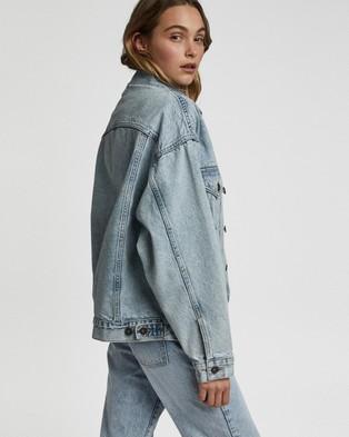 Cotton On - The Oversized Denim Jacket - Denim jacket (Aireys Blue) The Oversized Denim Jacket