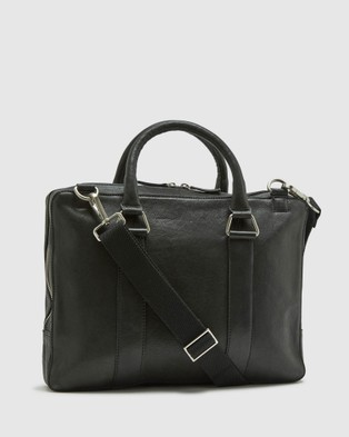 Oxford Lambert Leather Briefcase - Bags (Black)