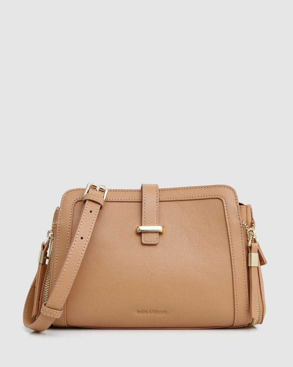 Belle & Bloom Your Girl Cross Body Bag Bags Beige Cross-Body Australia