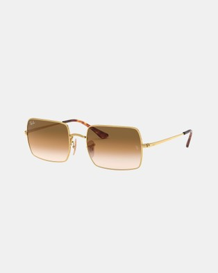 RaBan - Rectangle 1969 RB1969 - Sunglasses (Gold & Light Brown Gradient)