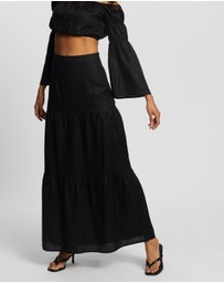 AERE - Tiered Maxi Skirt