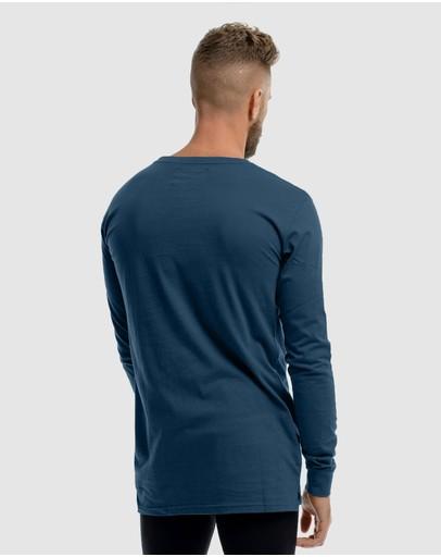 Xander Roulette Long Sleeve Tee Blue
