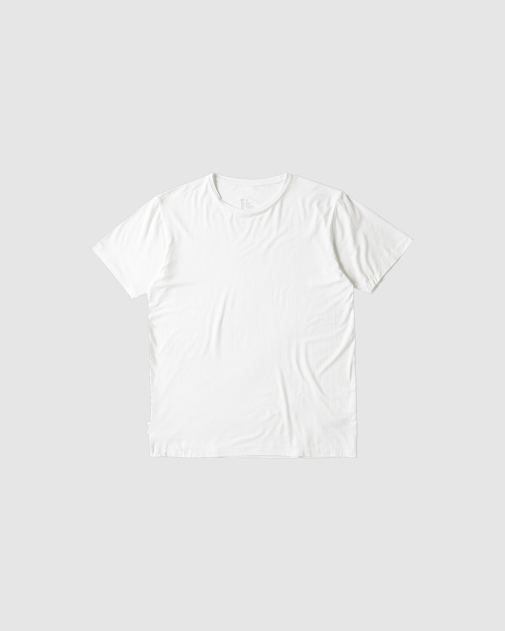 Boody Organic Bamboo Eco Wear - Crew Neck T Shirt - Short Sleeve T-Shirts (White) Crew Neck T-Shirt