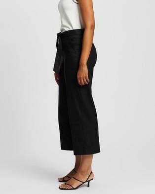 Marcs Eva Stretch Linen Culotte - Pants (BLACK)
