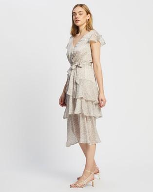 MINKPINK Jemma Frill Midi Dress - Printed Dresses (Multi)