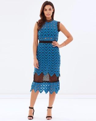 Kitchy Ku – The Blue Moon Dress – Dresses (Black and Blue)