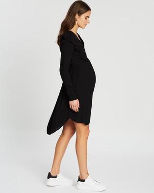 Cotton On Maternity Maternity Cross Front Babydoll Dress - Dresses (Black)