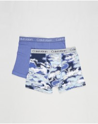 Calvin Klein - 2-Pack Cotton Boxer Briefs - Kids-Teens