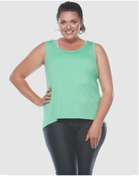 Curvy Chic Sports - Laced Back Tank Top