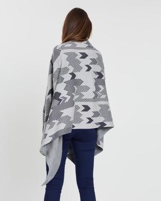 KAJA Clothing Palma Poncho - Jumpers & Cardigans (Grey)
