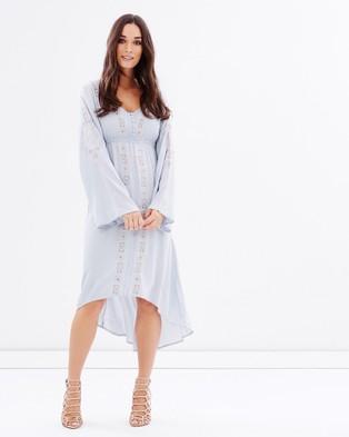 Kaja Clothing – Dakota Dress – Dresses (Grey & Blue)