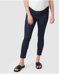 Pea in a Pod Maternity - Tegan Underbelly Crop Jeans
