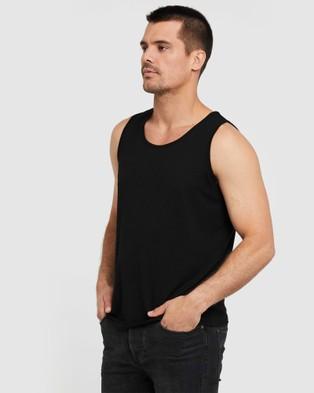 Bamboo Body Bamboo Singlet - T-Shirts & Singlets (Black)