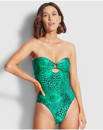 Seafolly - Wild Ones Ring Front One Piece