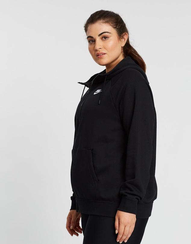 Women Sportswear Essential Full-Zip Fleece Hoodie