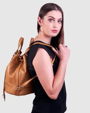 BEE The Orpheus Tan Bag - Backpacks (Tan)