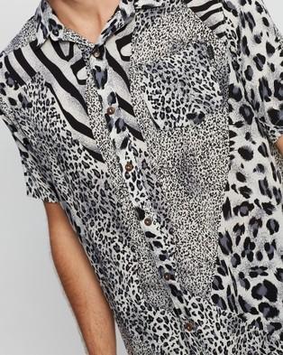 Silent Theory Spliced Short Sleeve Shirt - Shirts & Polos (NAVY)