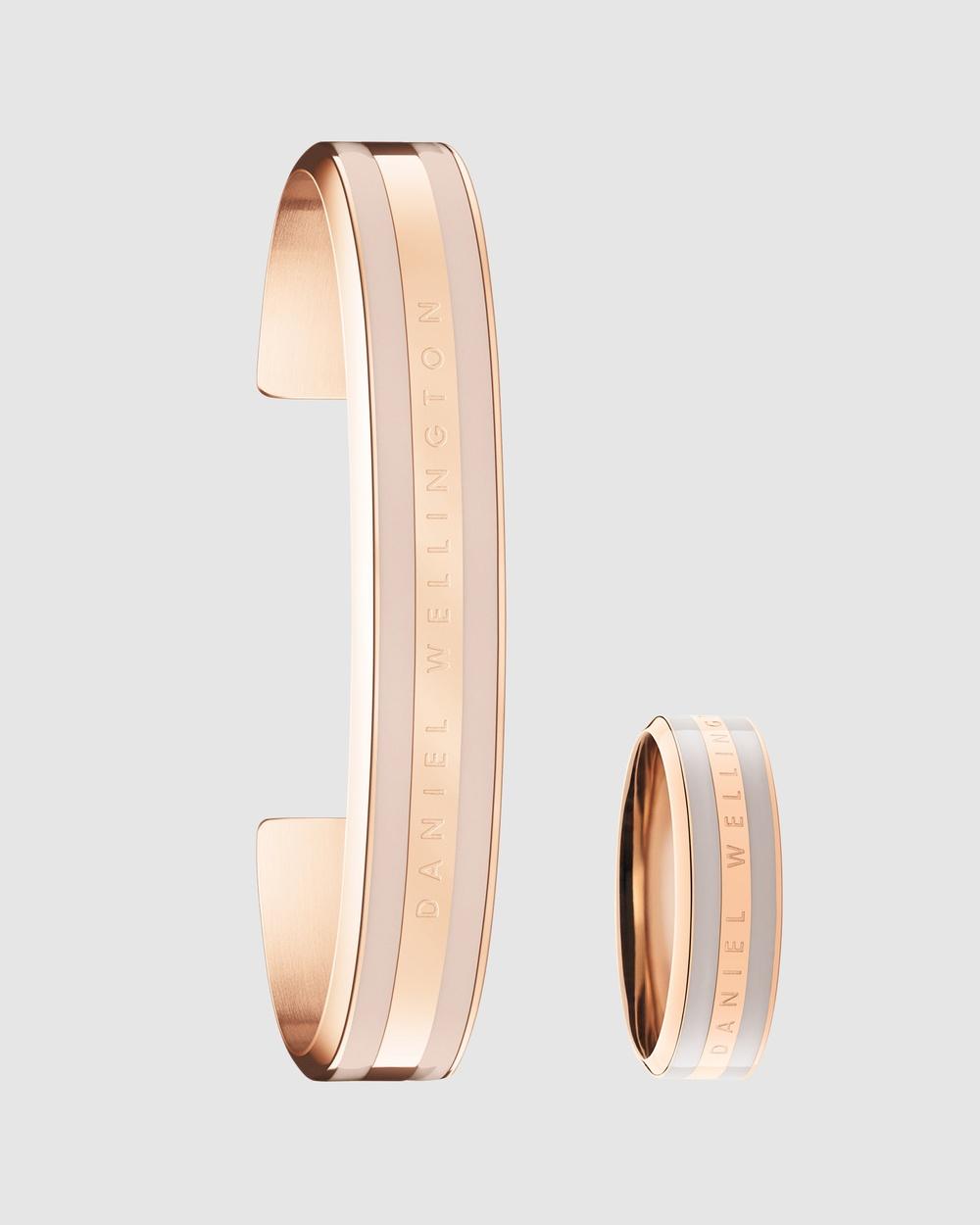 Daniel Wellington Classic Bracelet M + Ring Gift Set Jewellery Rose gold