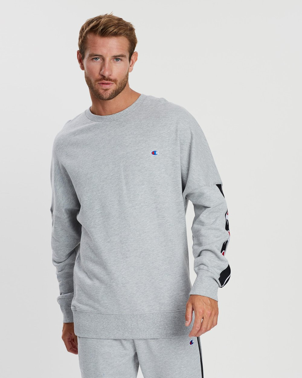 7b19e0000939 ID Collection Tape Crew Sweater by Champion Online