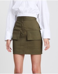 Michael Lo Sordo - A-Line Skirt with Front Pocket