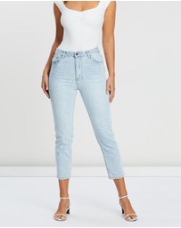 Atmos&Here - Sandy Super High Waist Mom Jeans