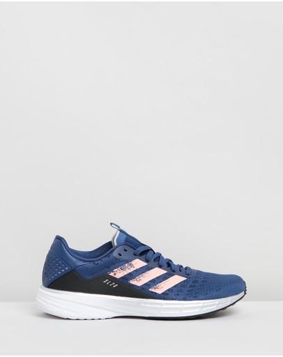 Adidas Performance Sl20 - Women's Running Shoes Tech Indigo Glory Pink & Core Black