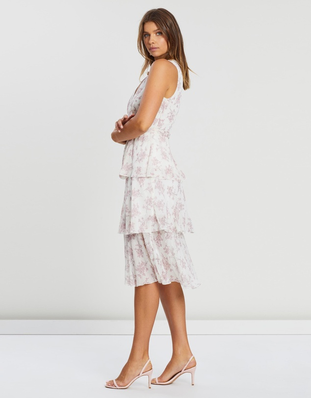 Atmos&Here - Three Tier Floral Midi Dress