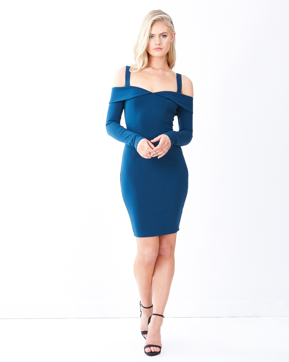 Photo of Tussah Teal Verona Body-Con Dress - beautiful dress from Tussah online