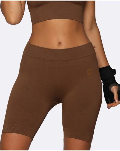 Nicky Kay Seamless Bike Shorts Brown