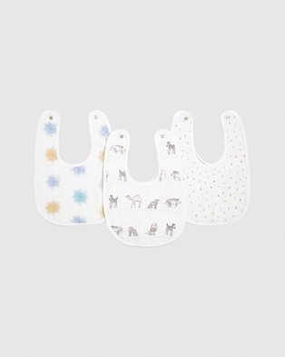 Aden & Anais 3 Pack Classic Snap Bibs - Bibs (Little Big World)