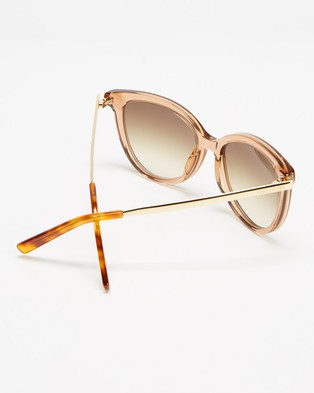 Oroton Iris - Sunglasses (Tea)