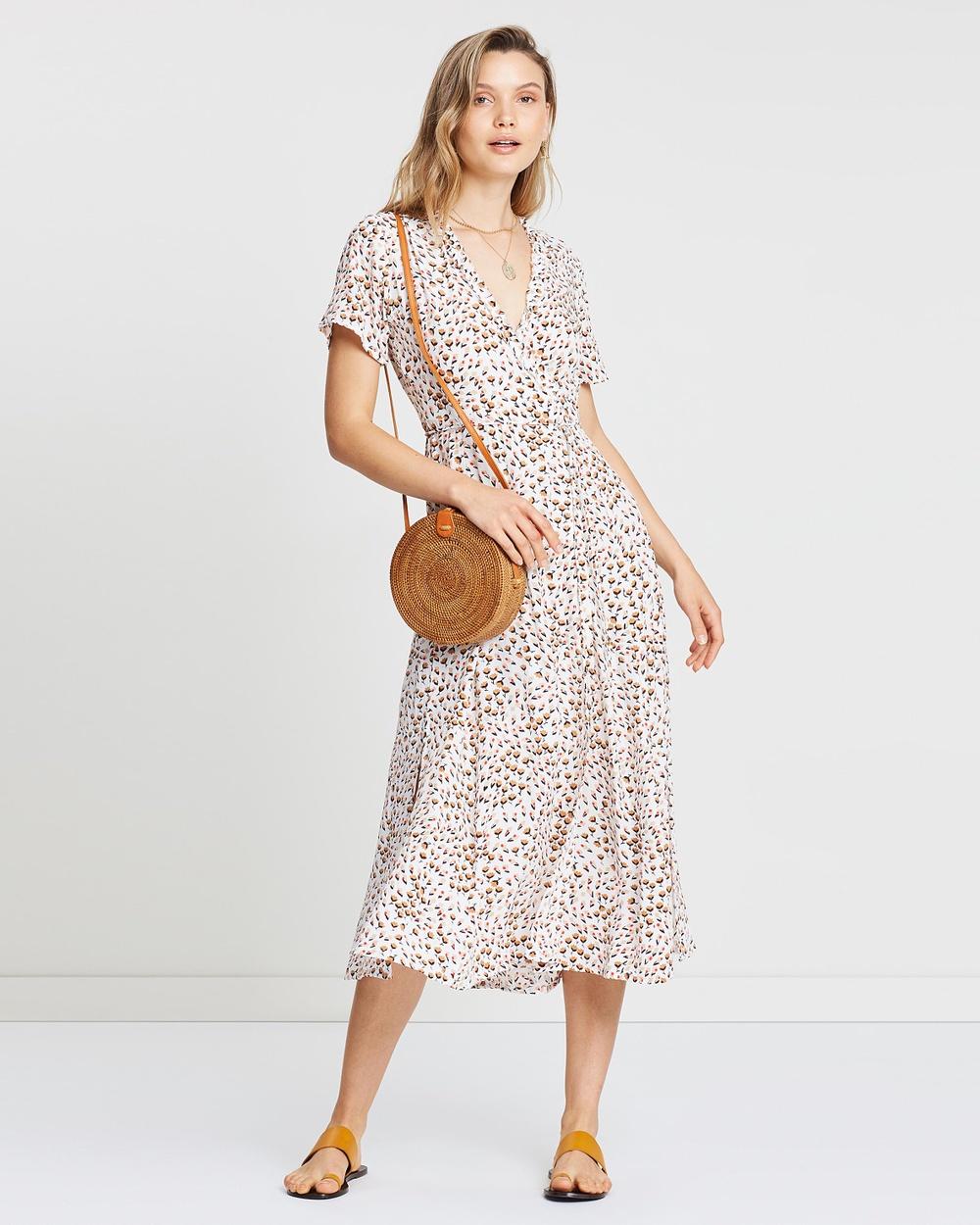 Faithfull Sabine Floral Print Mara Wrap Dress