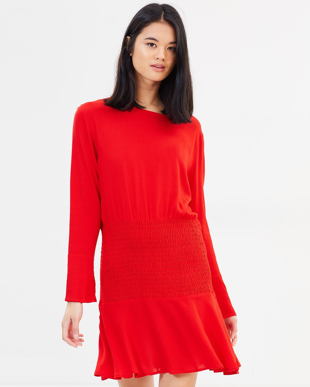Otto Mode Half Moon Dress Dresses Red Half Moon Dress