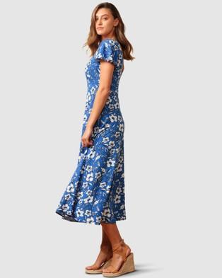 SACHA DRAKE Sanctuary Cove Dress - Dresses (Blue White Floral)