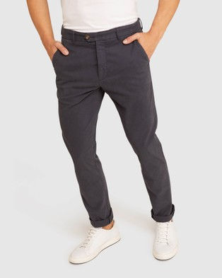 Oxford Luka Stretch Casual Pants - Pants (Grey)