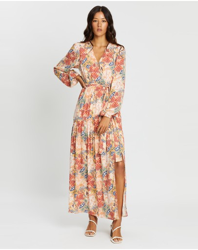 Minkpink Patchwork Paisley Maxi Dress Multi